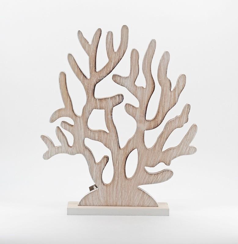 Bomboniera corallo in legno Pz. 1