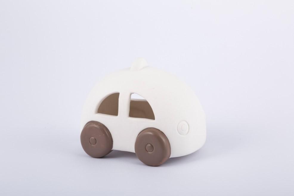 Bomboniera in porcellana auto con led Pz. 4