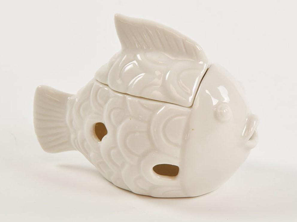 Bomboniera in porcellana scatolina pesciolino Pz. 4