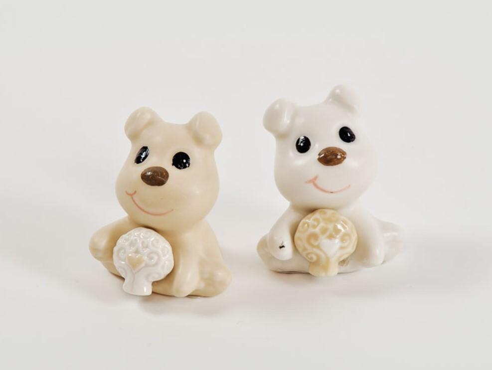 Bomboniera in porcellana cagnolino Pz. 12