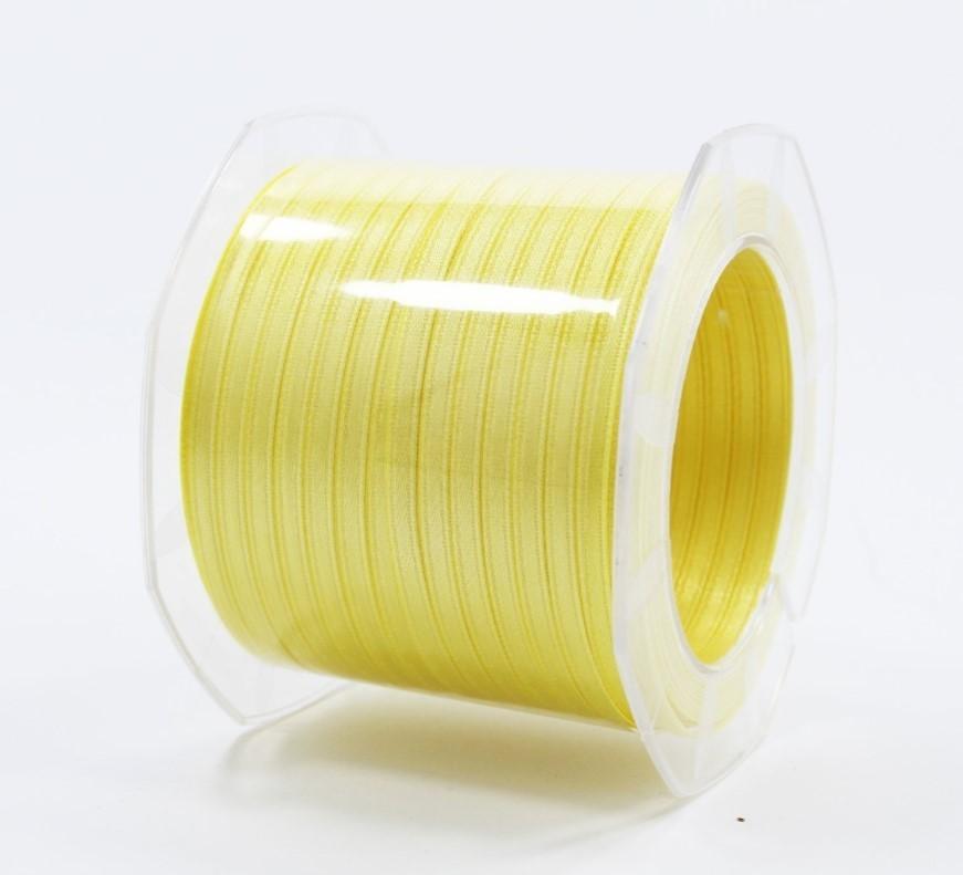 Furlanis nastro di raso giallo chiaro colore 428 mm.3  Mt.100