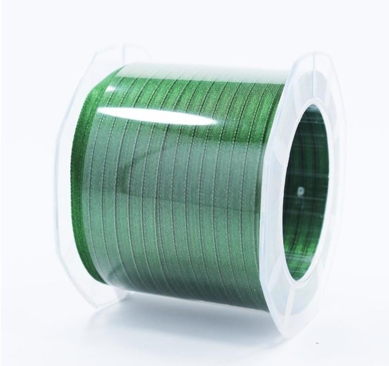 Furlanis nastro di raso verde bottiglia colore 633 mm.3  Mt.100