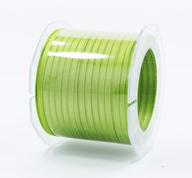 Furlanis nastro di raso verde mela colore 139 mm.3  Mt.100