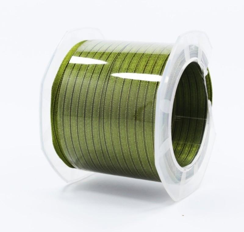 Furlanis nastro di raso verde oliva colore 39 mm.3  Mt.100
