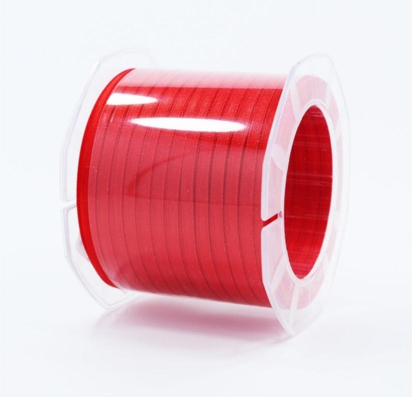 Furlanis nastro di raso rosso colore 31 mm.3  Mt.100