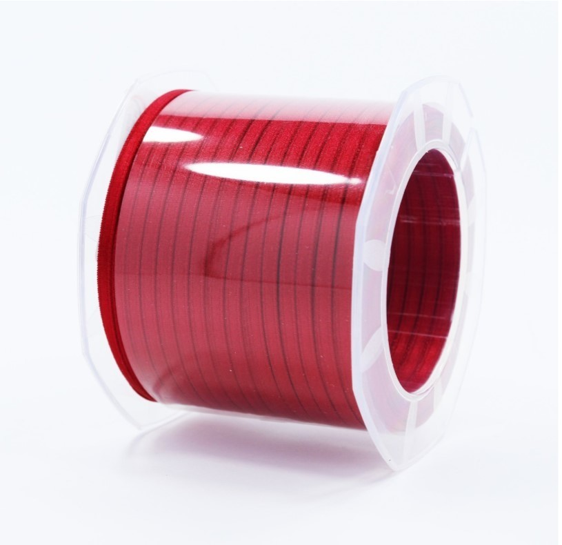 Furlanis nastro di raso rosso scuro colore 46 mm.3  Mt.100