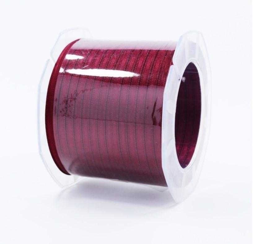 Furlanis nastro di raso prugna colore 38 mm.3  Mt.100