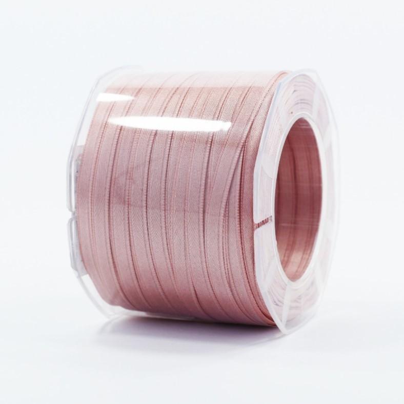 Furlanis nastro di raso rosa antico chiaro colore 552 mm.6 Mt.100
