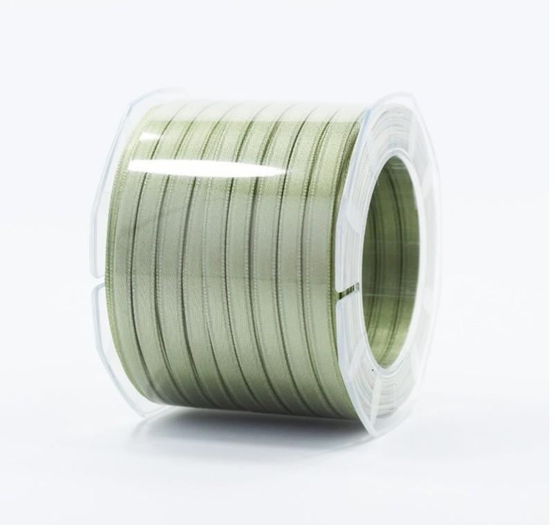 Furlanis nastro di raso verde salvia colore 15 mm.6 Mt.100
