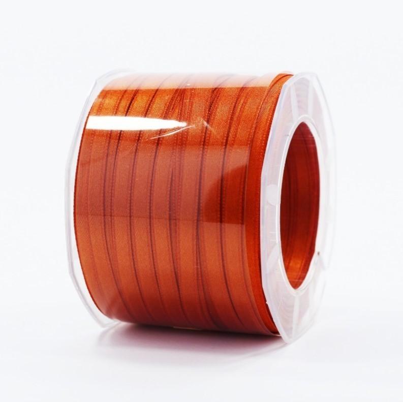 Furlanis nastro di raso arancio scuro colore 40 mm.6 Mt.100