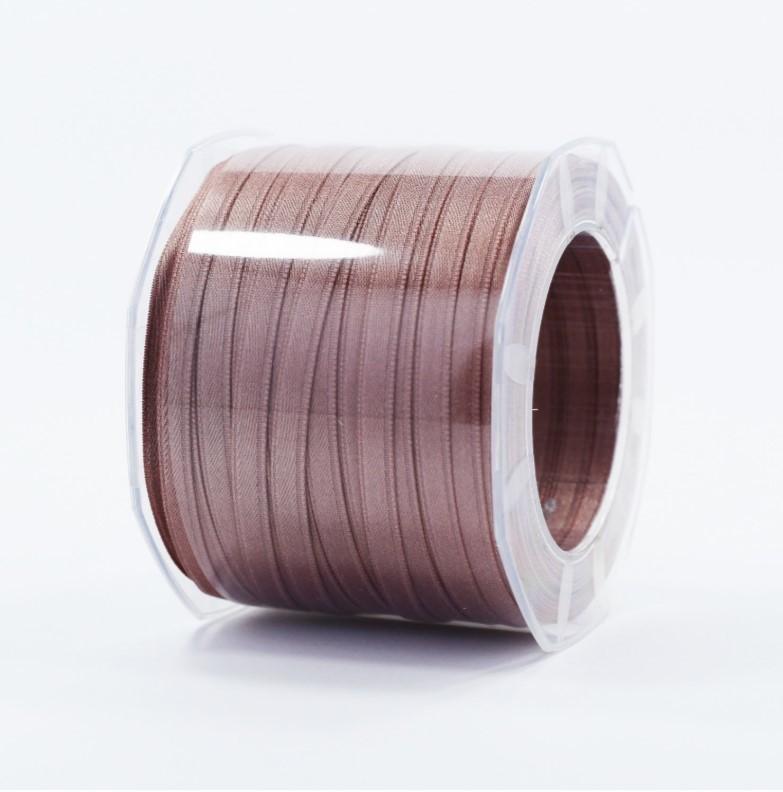 Furlanis nastro di raso marrone chiaro colore 56 mm.6 Mt.100