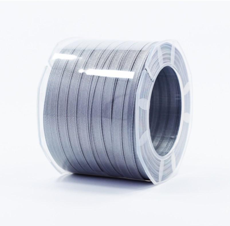 Furlanis nastro di raso grigio medio colore 75 mm.6 Mt.100