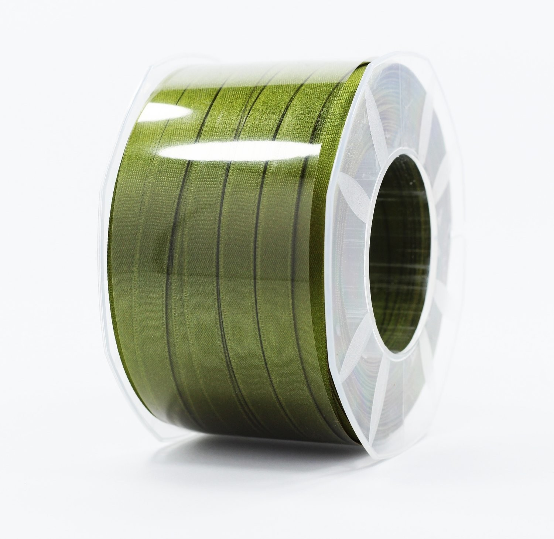 Furlanis nastro di raso verde oliva colore 39 mm.10 Mt.100