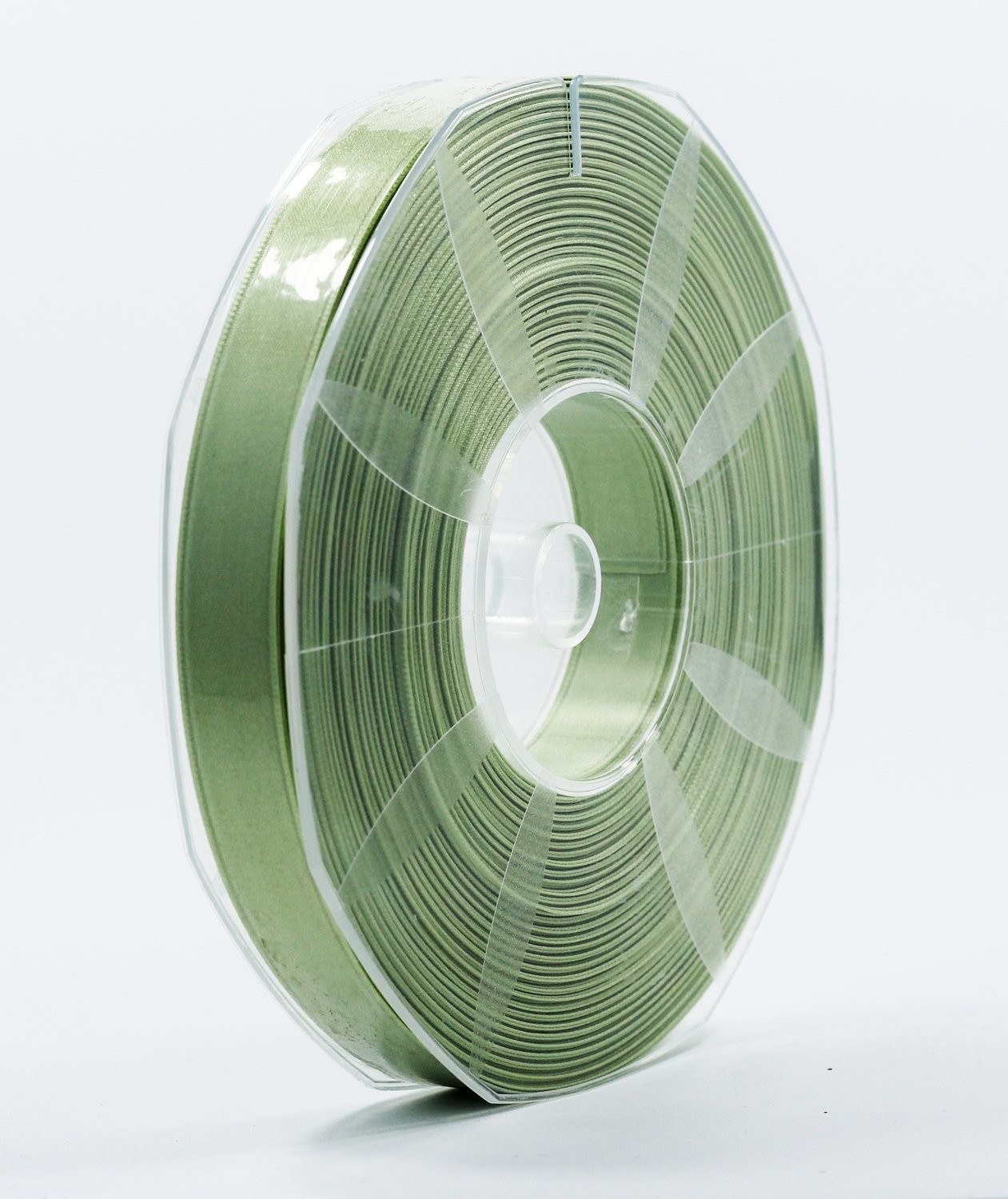 Furlanis nastro di raso verde medio colore 7 mm.16 Mt.50