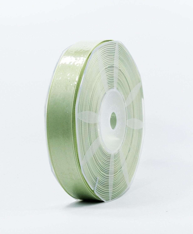 Furlanis nastro di raso verde medio colore 7 mm.25 Mt.50