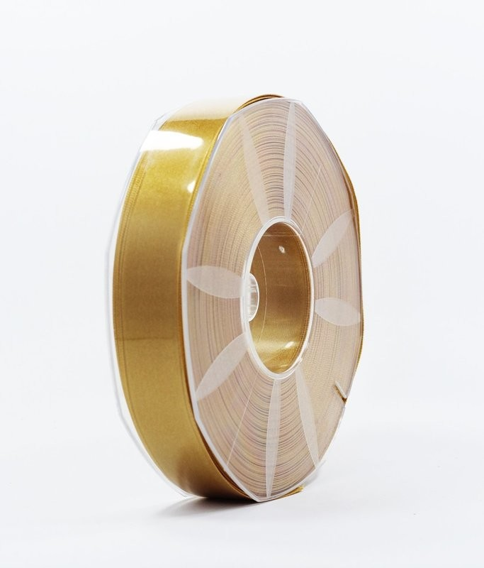 Furlanis nastro di raso giallo ocra colore 1085 mm.25 Mt.50