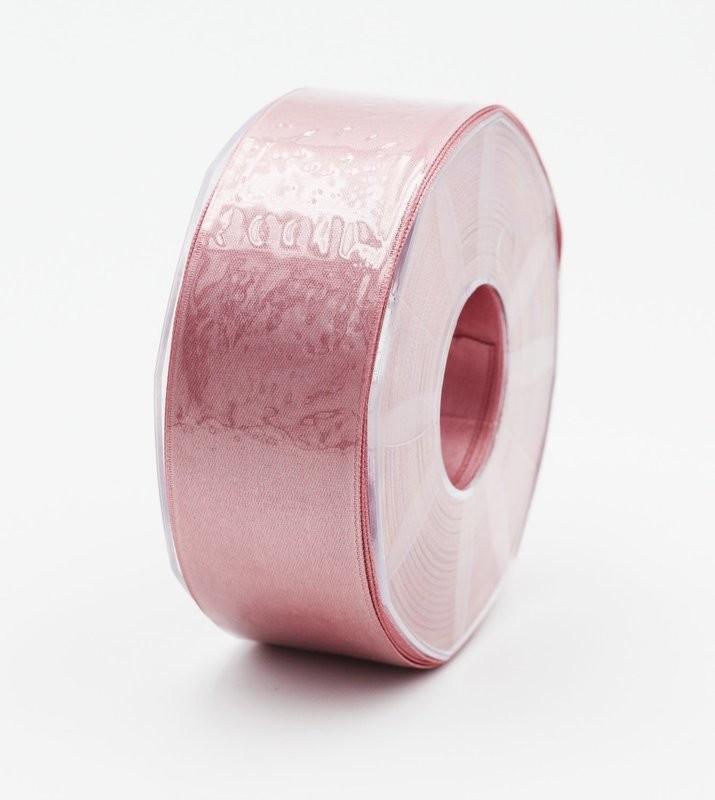 Furlanis nastro di raso rosa antico scuro colore 37 mm.40 Mt.25