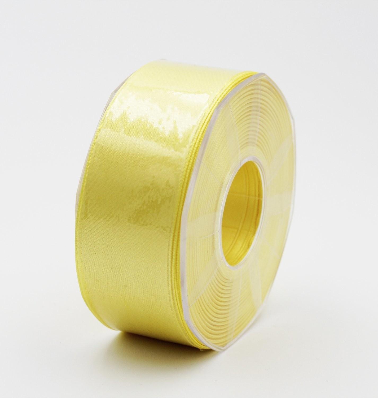 Furlanis nastro di raso giallo chiaro colore 428 mm.40 Mt.25
