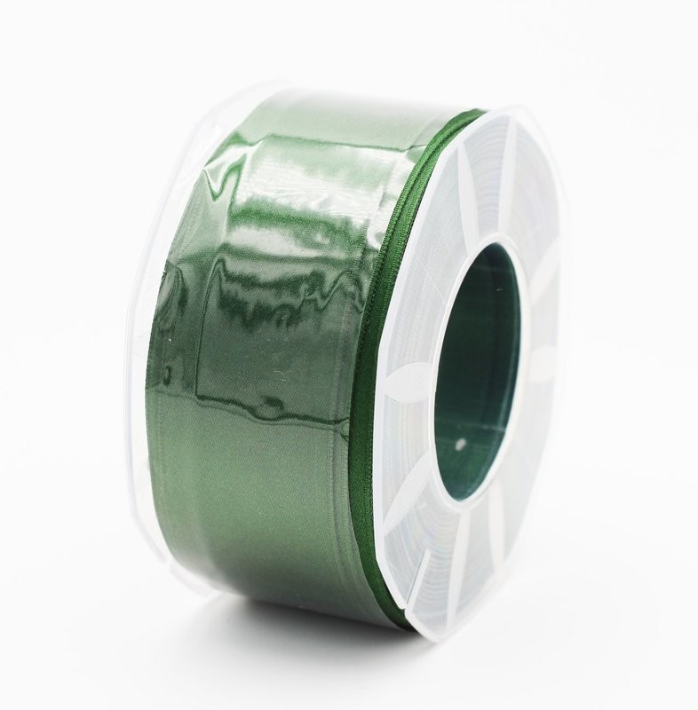 Furlanis nastro di raso verde bottiglia colore 633 mm.40 Mt.25