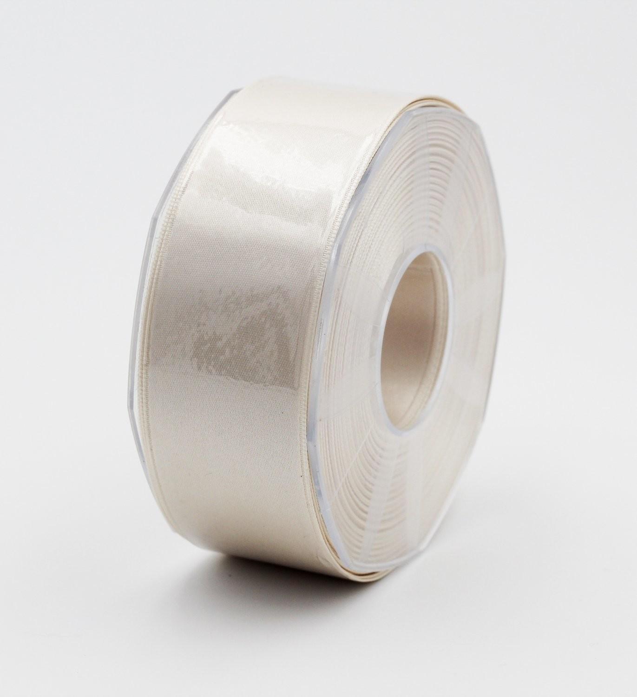 Furlanis nastro di raso avorio colore 35 mm.48 Mt.25