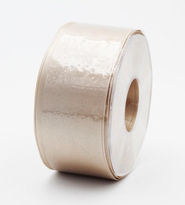 Furlanis nastro di raso beige chiaro colore 2 mm.48 Mt.25
