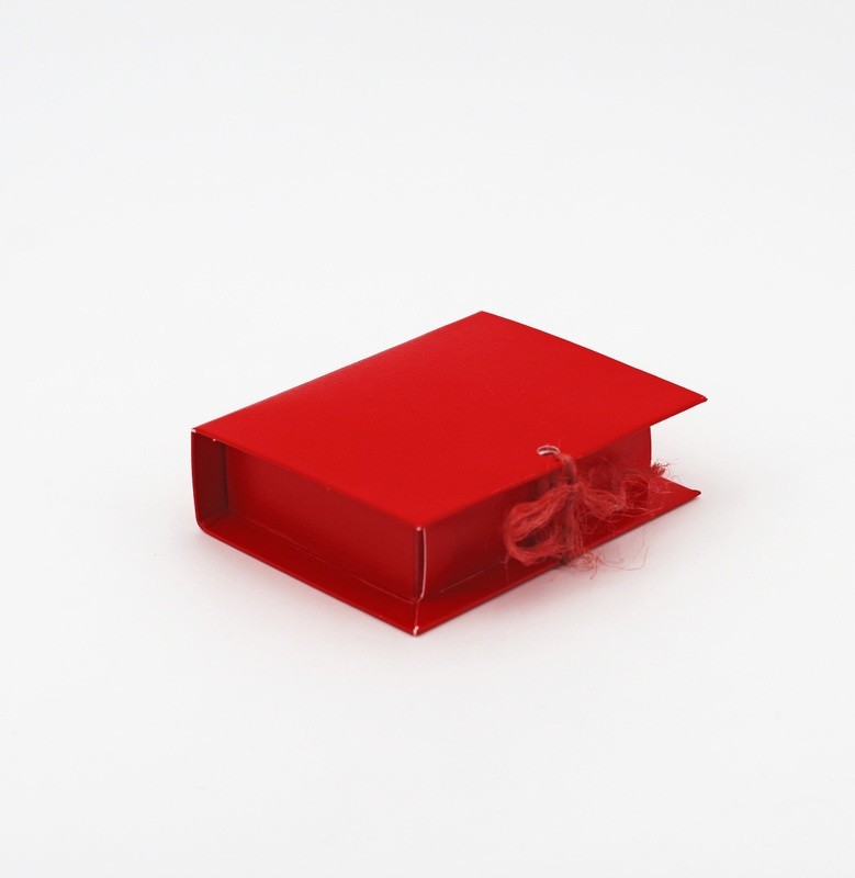 Scatolo book lino rosso Pz. 10
