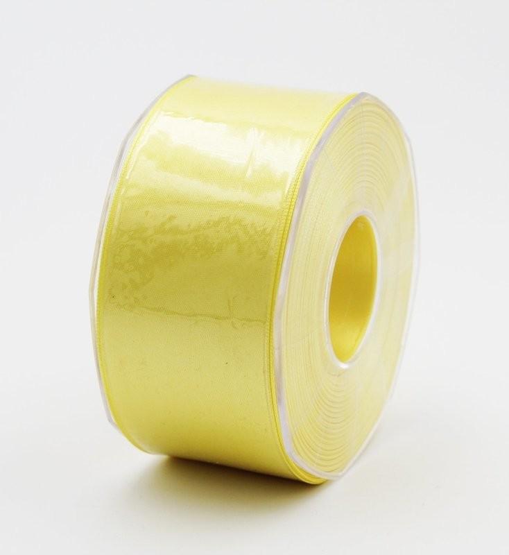 Furlanis nastro di raso giallo chiaro colore 428 mm. 48 Mt. 25