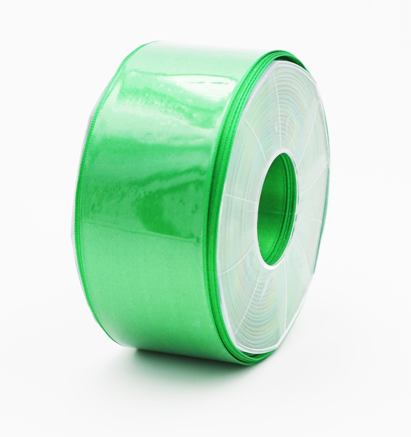 Furlanis nastro di raso verde scuro colore 32 mm. 48 Mt. 25