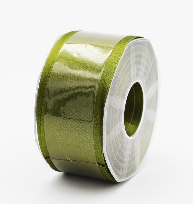 Furlanis nastro di raso verde oliva colore 39 mm. 48 Mt. 25
