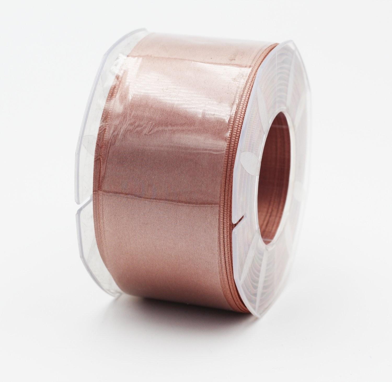 Furlanis nastro di raso marrone chiaro colore 56 mm. 48 Mt. 25