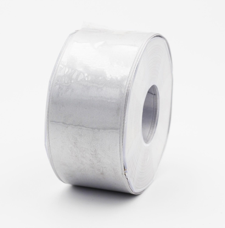 Furlanis nastro di raso grigio perla colore 73 mm. 48 Mt. 25