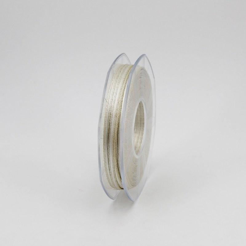 Furlanis nastro doppio raso lurex oro colore 102 mm.3 Mt.50