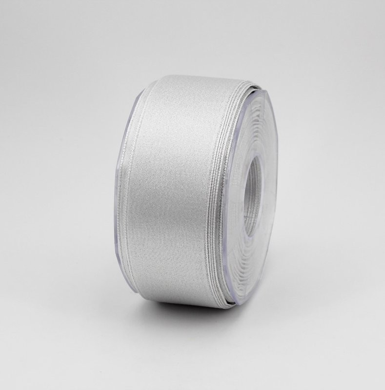 Furlanis nastro doppio raso lurex argento colore 101 mm.40 Mt.25