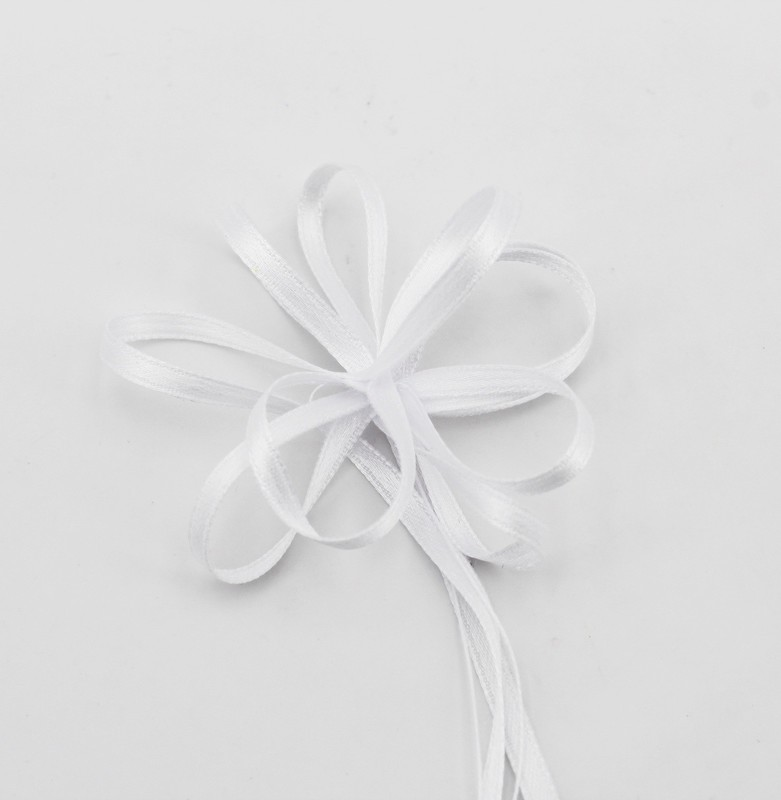 Furlanis nastro doppio raso bianco con tirante colore 13 mm.3 Mt.100