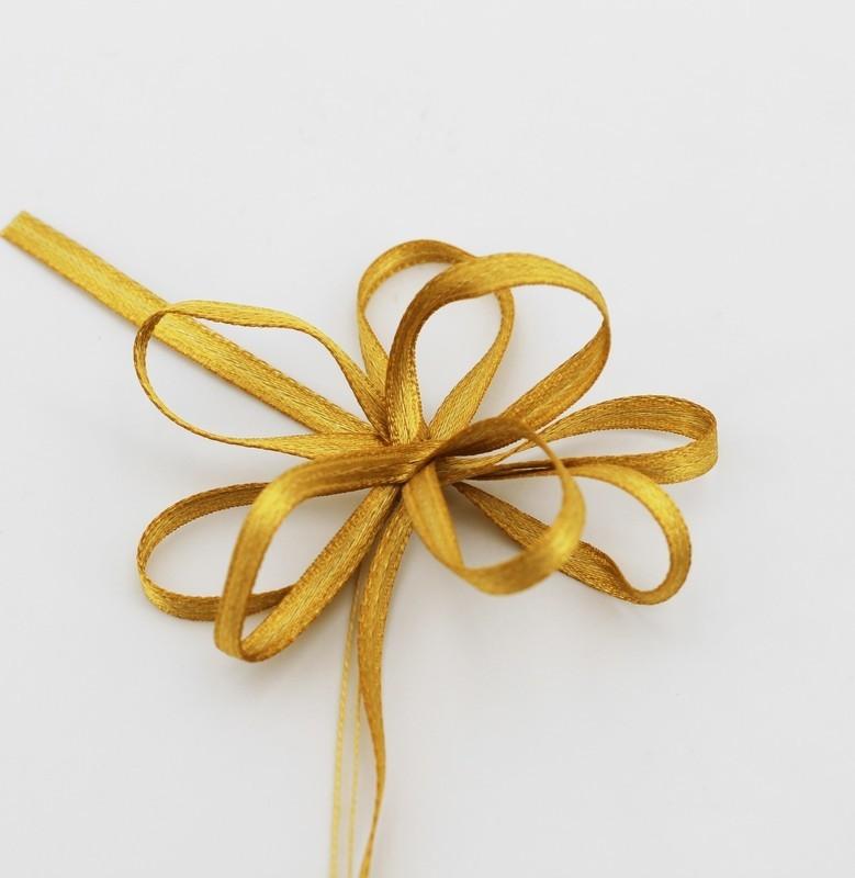Furlanis nastro doppio raso giallo ocra con tirante colore 1085 mm.3 Mt.100