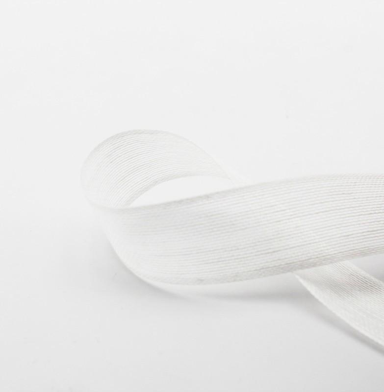 Furlanis nastro velo lino bianco colore 13 mm.24 Mt. 15
