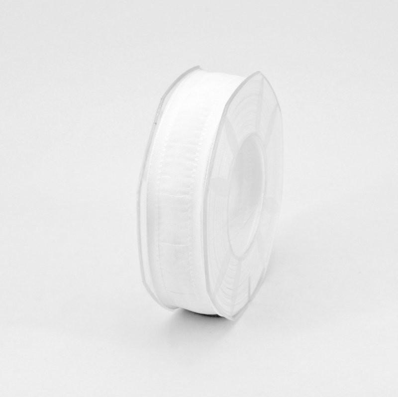 Furlanis nastro seta bordi rinforzati bianco seta colore 1 mm.25 Mt. 20