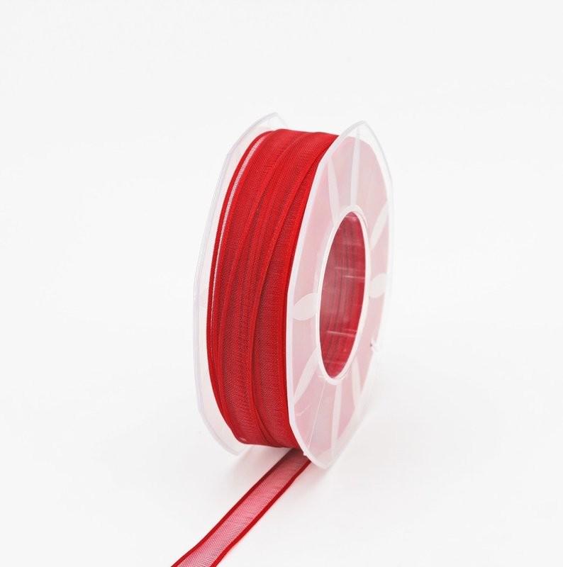 Furlanis nastro organza rosso colore 31 mm.10 Mt. 50