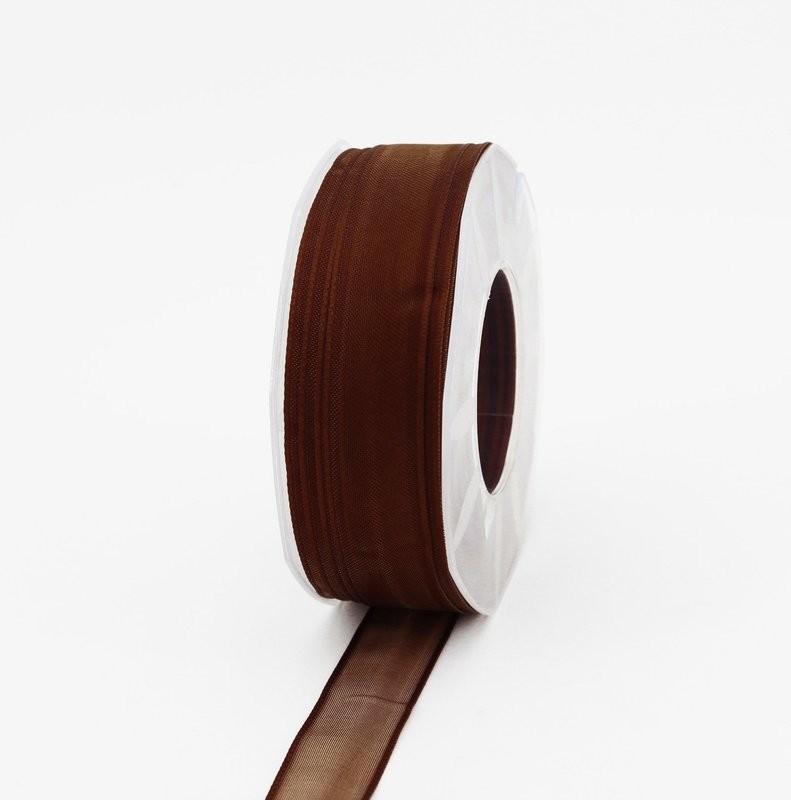 Furlanis nastro organza marrone colore 44 mm.25 Mt.50