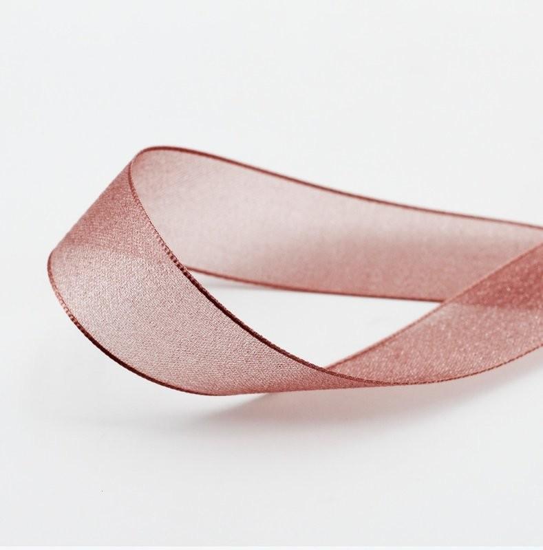 Furlanis nastro velo luminoso rosa antico colore 552 mm. 25 Mt. 20