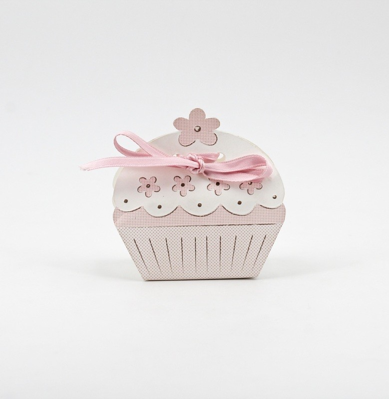 Scatolo cup cake rosa Pz. 10