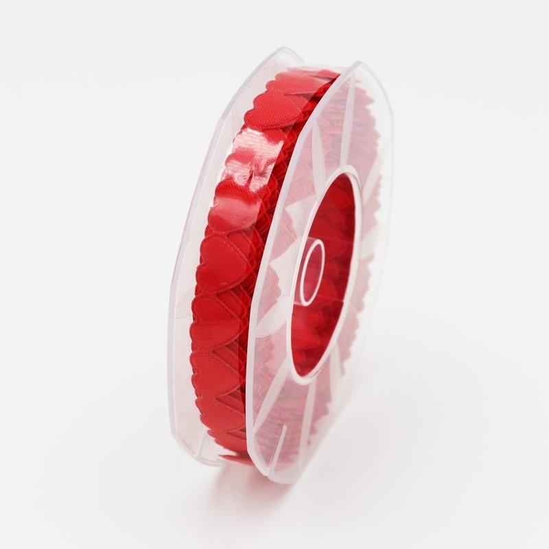 Furlanis nastro cuore imbottito rosso colore 31 Mt. 5