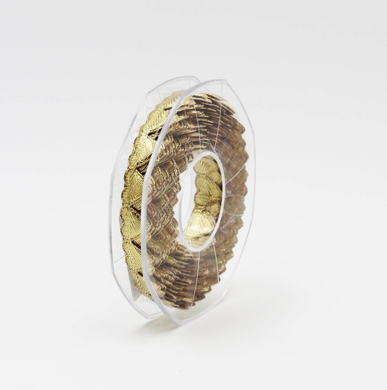 Furlanis nastro cuoricini imbottiti oro colore 102 Mt. 5