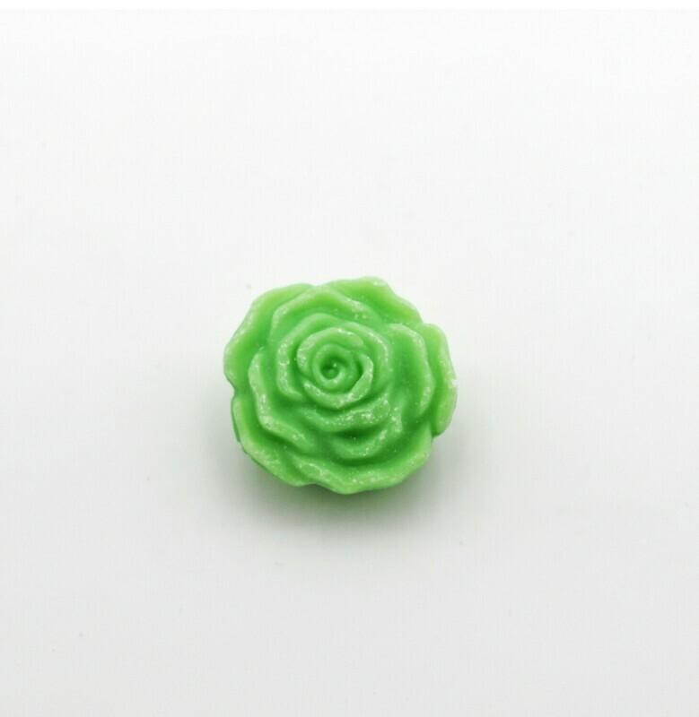 Saponetta piccola a forma di rosa verde Pz. 12