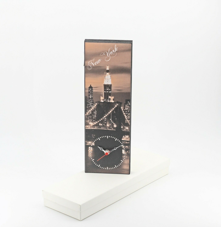 Bomboniera orologio con fantasia città New York Pz. 1