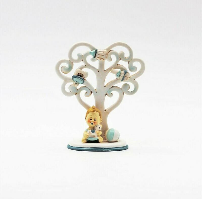 Bomboniera in resina albero della vita boy  Pz.4