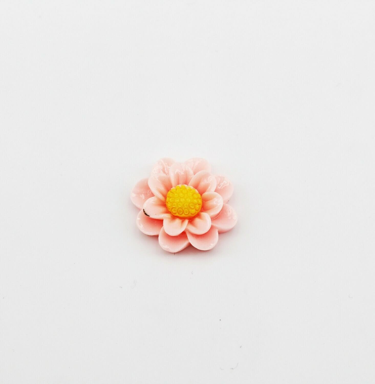 Applicazioni in resina fiorellino rosa  Pz. 72