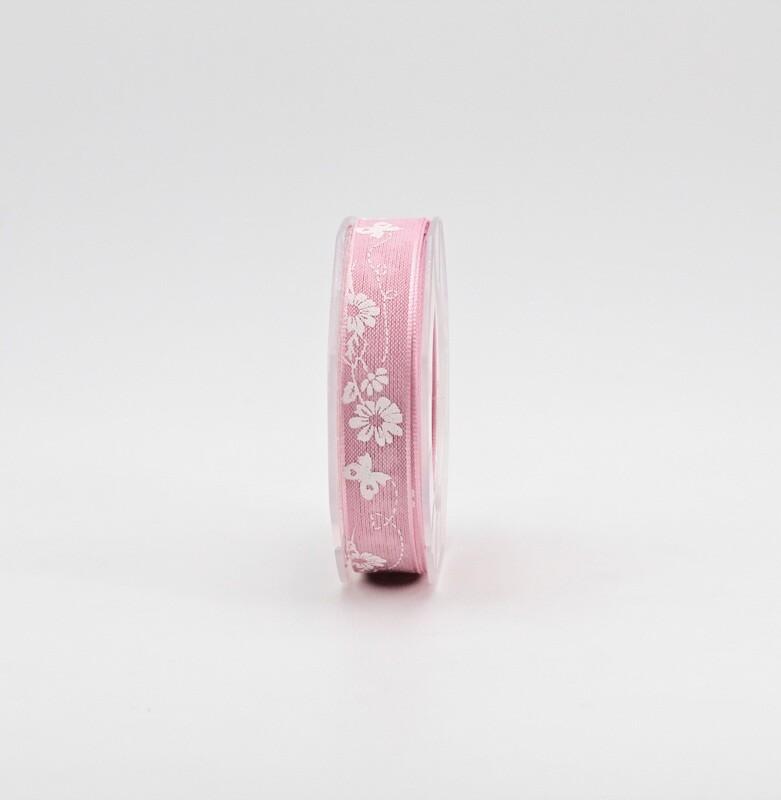 Furlanis nastro velo cotone serigrafato rosa colore 20 mm.15 Mt. 10
