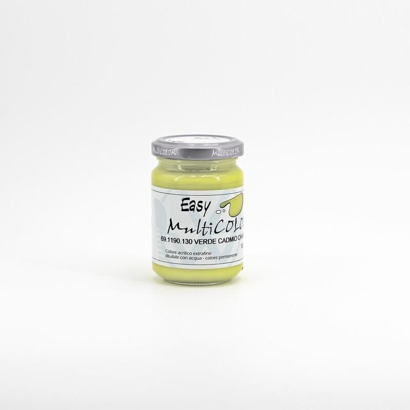 Colore acrilico verde cadmio chiaro extrafine permanente 130 ml. Pz. 1