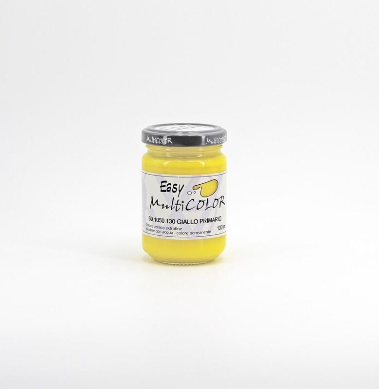 Colore acrilico giallo primario extrafine permanente 130 ml. Pz. 1